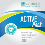 Active pack $260.00 Panoramic Xray, Custom mouth guard, Scale and clean