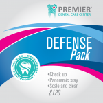 Defense Pack $150.00 Check up, Panoramic xray, scale and clean