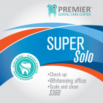 Super solo $380.00 Check up, Whitenning office, Scale and clean
